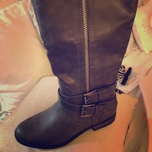 Shoes - Boots unused never worn!!!  Beautiful slate gray.